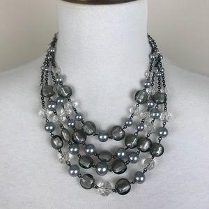 White House black market multi strand necklace
